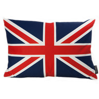 lava British Flag Feather Filled Pillow