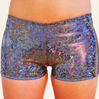 Holographic Booty Shorts Hot Pants