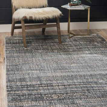 0152 Gray Moroccan Tribal Design Distressed Contemporary Area Rugs