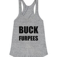 Buck Furpees Racerback-Female Athletic Grey T-Shirt