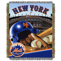 New York Mets MLB Woven Tapestry Throw (Home Field Advantage) (48x60)