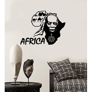Wall Stickers Vinyl Decal Africa African Country Travel Map Tourism Unique Gift (ig1827)