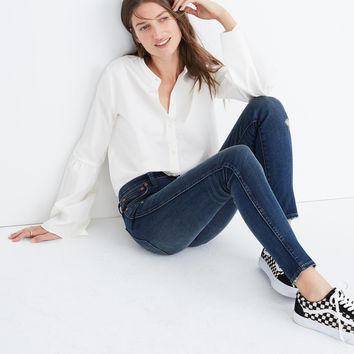 "9"" High-Rise Skinny Jeans: Distressed Edition : shopmadewell high-rise skinny jeans 