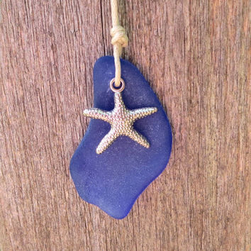 Summer Starfish Sea Glass Necklace