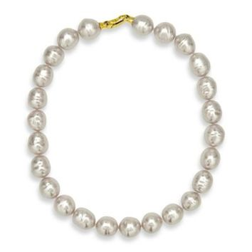 Majorica 18K Gold Vermeil 14mm Simulated Baroque Pearl 20-Inch Strand Necklace