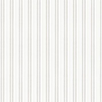 Brewster Wallpaper 2668-21517 Anne Grey Ticking Stripe