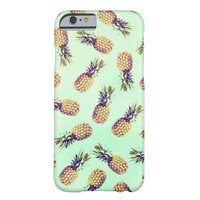 Mint green tropical pineapple fashion pattern barely there iPhone 6 case