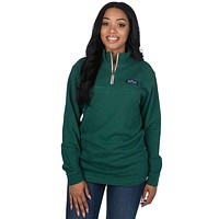 Heathered Whitacre Pullover in Evergreen by Lauren James