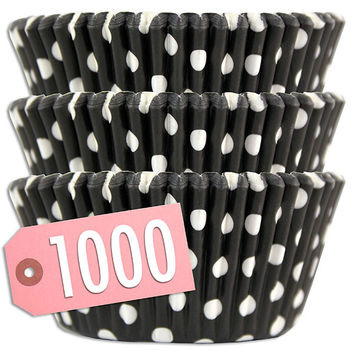 Black Polka Dot Baking Cups 1000