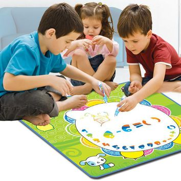 70*63cm children reusable giant coloring poster drawing educational toys /kids magic cloth drawing board with water pen  toys