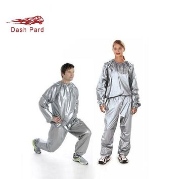 Silver and black environment-friendly materials for men and women fitness clothes, fast sweating suits and sauna suits W4-168