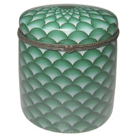 Fish Scale Box, Green, Large, Jars, Canisters, Tins & Bottles