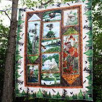 Majestic Wings Eagle Quilt, Wall Hanging, Man Quilt, Nature Wall Hanging,