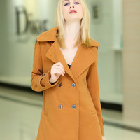 Women : Stylish Korean Cashmere Coat YRB0568