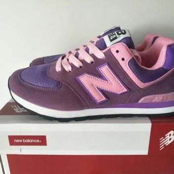 CREYON new balance 574 women sport casual multicolor n words sneakers running shoes  9