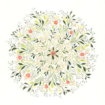 Flower Burst Art Print by Charmaine Olivia