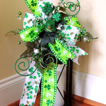 Lucky Shamrock st Patricks day Lantern Swag Top Hat St Patrick's day Lantern Swag Tabletop Arrangement Decoration door hanger