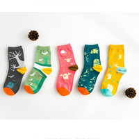 Halloween Socks for Women and Girl 5 Color Gift