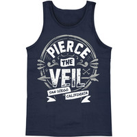 Pierce The Veil Men's  Seal Mens Tank Blue Rockabilia