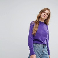 Monki High Neck Knitted Sweater at asos.com