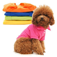 Pet Button Polo Shirt - Dog Puppy Fashion Clothes