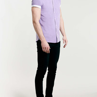 Purple Contrast Short Sleeve Shirt - Men's Shirts - Clothing - TOPMAN USA