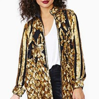 Gold Party Sequin Blazer