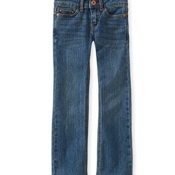 PS from Aero  Girls Medium Wash Core Bootcut Jeans (Slim Fit)