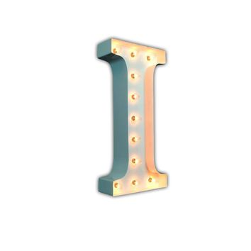 """24"""" Letter I Lighted Marquee Letters (White Gloss)"""