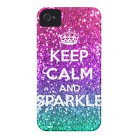 Keep Calm and Sparkle Glitter LookLike Rainbow from Zazzle.com