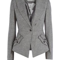 Gray Suit/Business - Bqueen Texture Tailoring Jacket Grey | UsTrendy