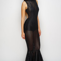 Marissa Mermaid Maxi Dress - Black