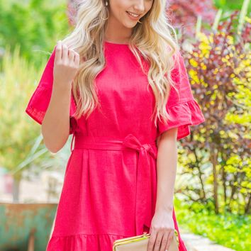 Party Ready Ruffle Flutter Dress