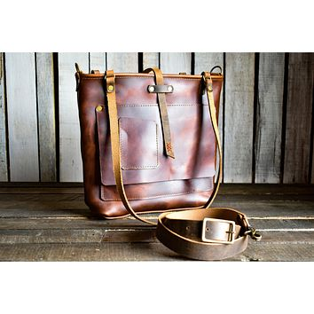 Leather Tote Bag | Handmade Leather Bag | Free Shipping