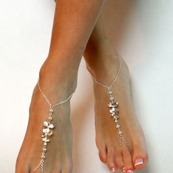 Orchid and Pearl Barefoot Sandals