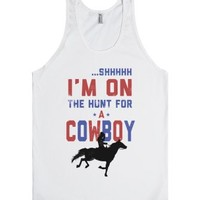I'm on the hunt for a Cowboy (Tank)-Unisex White Tank