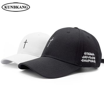 Trendy Winter Jacket New Classic Cross Baseball Cap Cotton Letter Embroidery Belt Snapback Hat Hip Hop Jesus God Cap Men Women Summer Casual Dad Hat AT_92_12