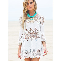 Crochet Patchwork Cover Up