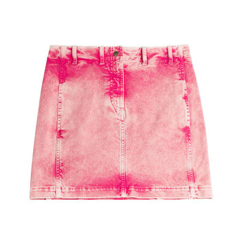 Acid Washed Jean Skirt - Roberto Cavalli | WOMEN | KR STYLEBOP.COM