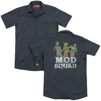 Mod Squad - Mod Squad Run Groovy (Back Print) Adult Work Shirt