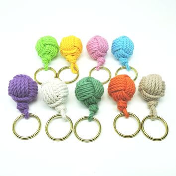 Monkey Fist Key Chain, Modern, Tropical Colors