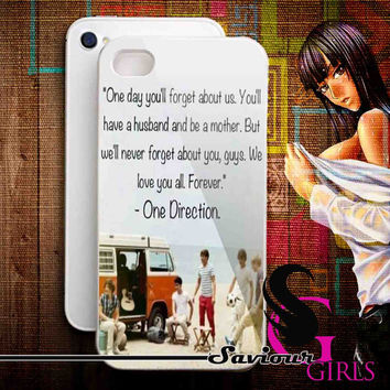 One Direction Quotes for iPhone 4/4S, 5/5S, 5C and Samsung Galaxy S3, S4 - Rubber and Plastic Case