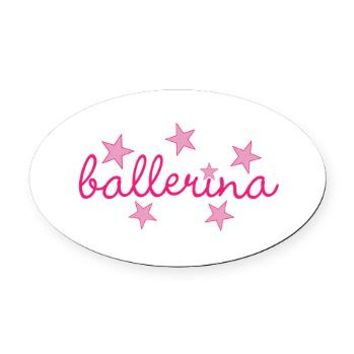 ballerina Oval Car Magnet