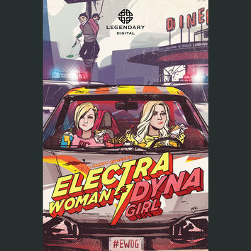 Electra Woman & Dyna Girl Comic Poster