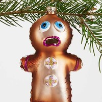 Eaten Gingerbread Ornament- Brown One
