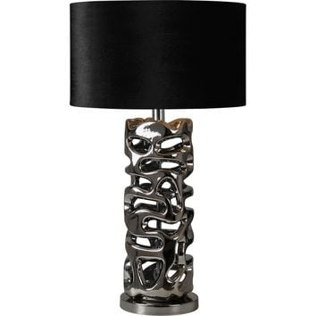 "Flair 28"" Table Lamp Chrome"