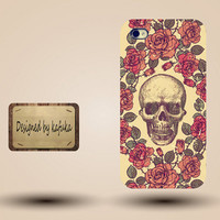 iphone case, i phone 4 4s 5 case,cool cute iphone4 iphone4s  5 case,stylish plastic rubber cases cover,Vintage red rose   floral Skull p981