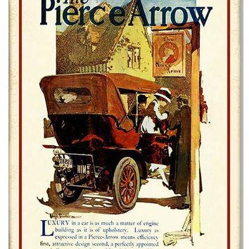 Pierce Arrow Luxury Vintage Reproduction Metal  Sign 12″x18″