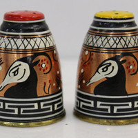 Vintage Collectible Grecian Goat Salt & Pepper Shaker Set