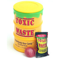 Toxic Waste Sour Candy Drums: 12-Piece Display